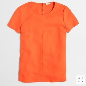 J. Crew Factory Matte Crepe Poly Shirt